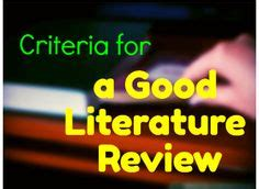 How to write a literature review summary tablets